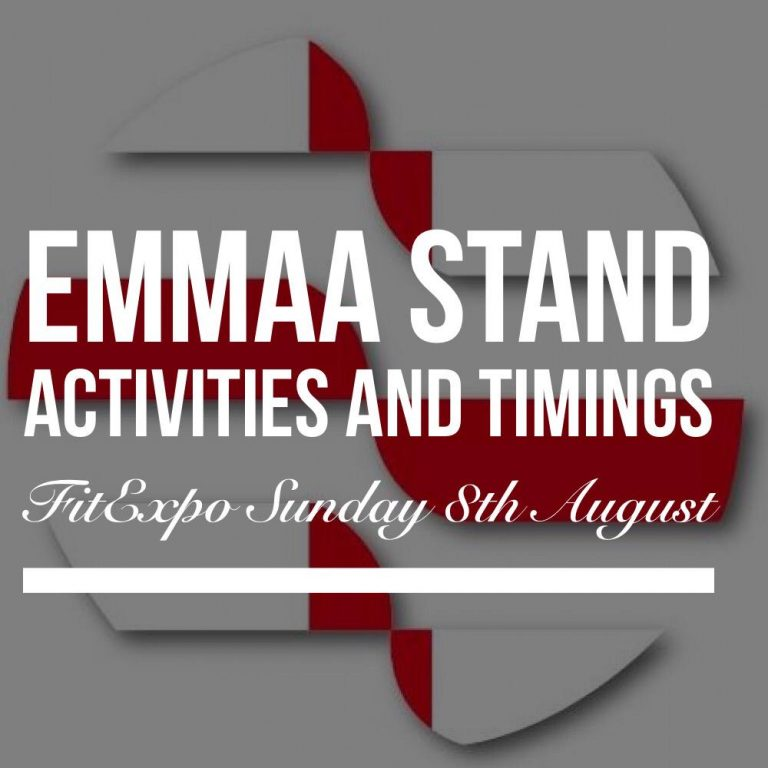 EMMAA Stand Activities and Timings for this Sundays Fit Expo